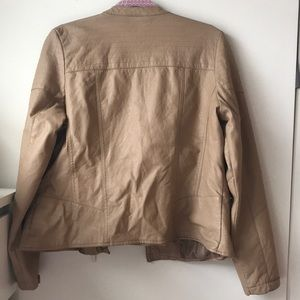 Jackets & Blazers - Brown tan leather jacket